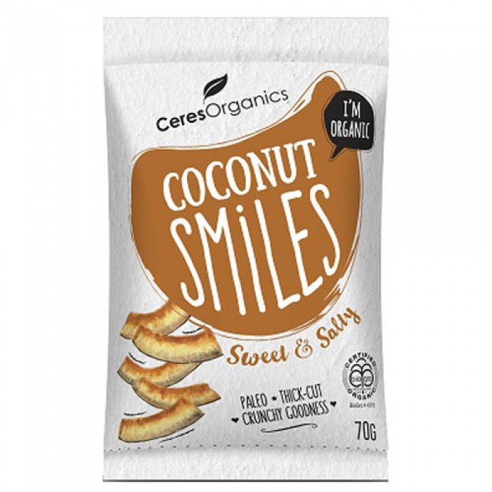 Organic Coconut Smiles, Sweet & Salty 70g image