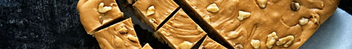 Butterscotch Pumpkin Spice Walnut Fudge