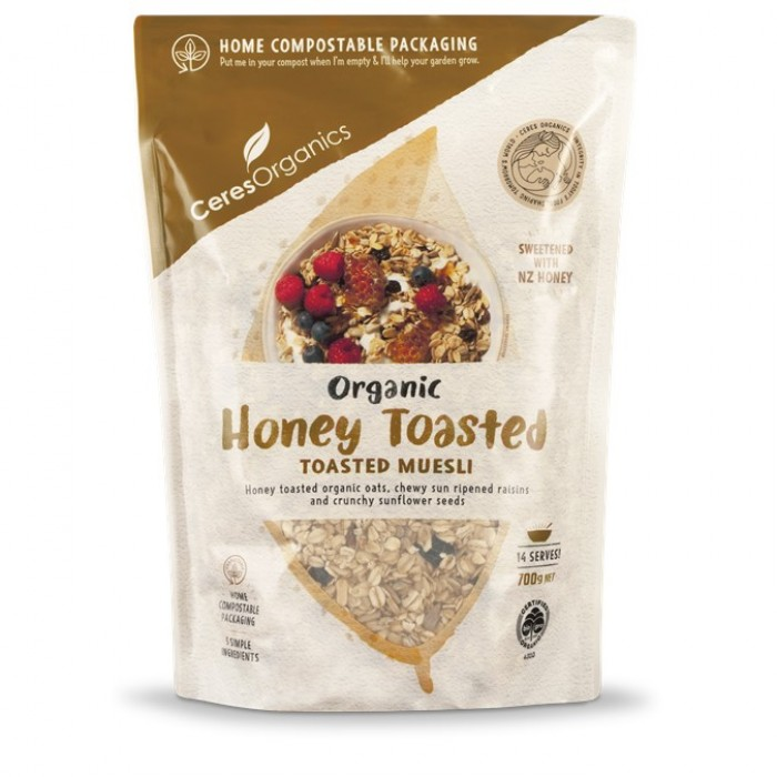 Organic Muesli, Honey Toasted image