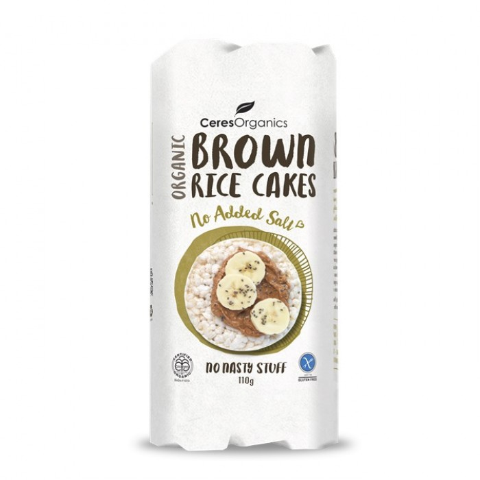 Organic Brown Rice Cakes, No Added Salt 110g image