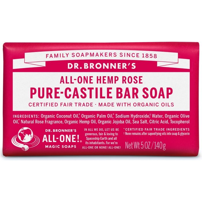 Pure Castile Bar Soap Rose image