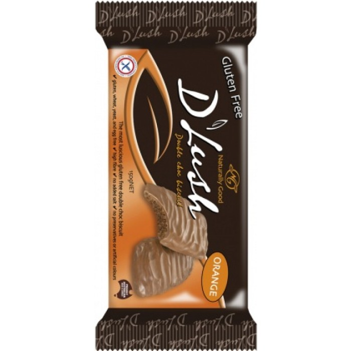 D'Lush Double Choc Biscuits Orange 150g image