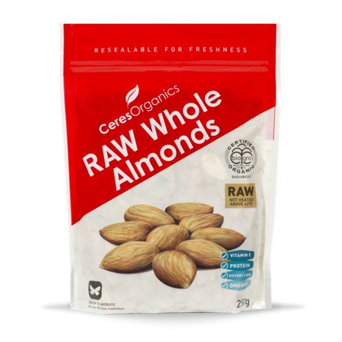 Organic RAW Whole Almonds 130g image