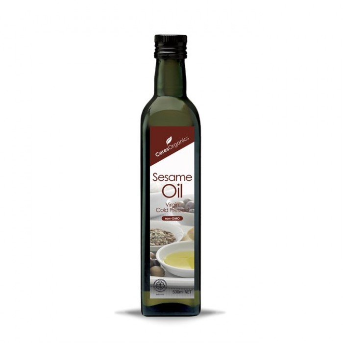 Organic Sesame Oil, Virgin Cold-Pressed 500ml image