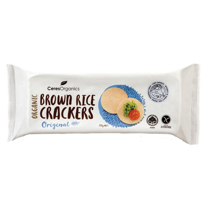 Organic Brown Rice Crackers, Original image