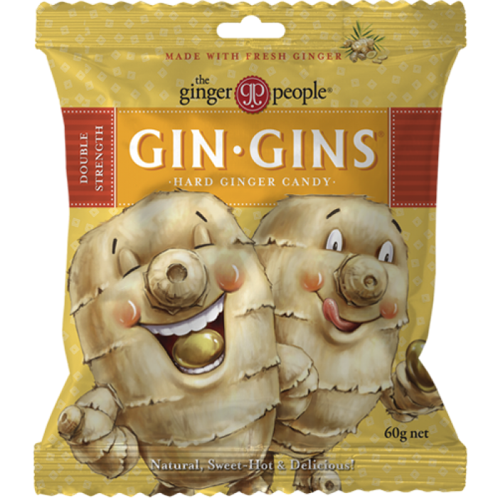 Gin Gins Double Strength Hard Ginger Candy 60g image