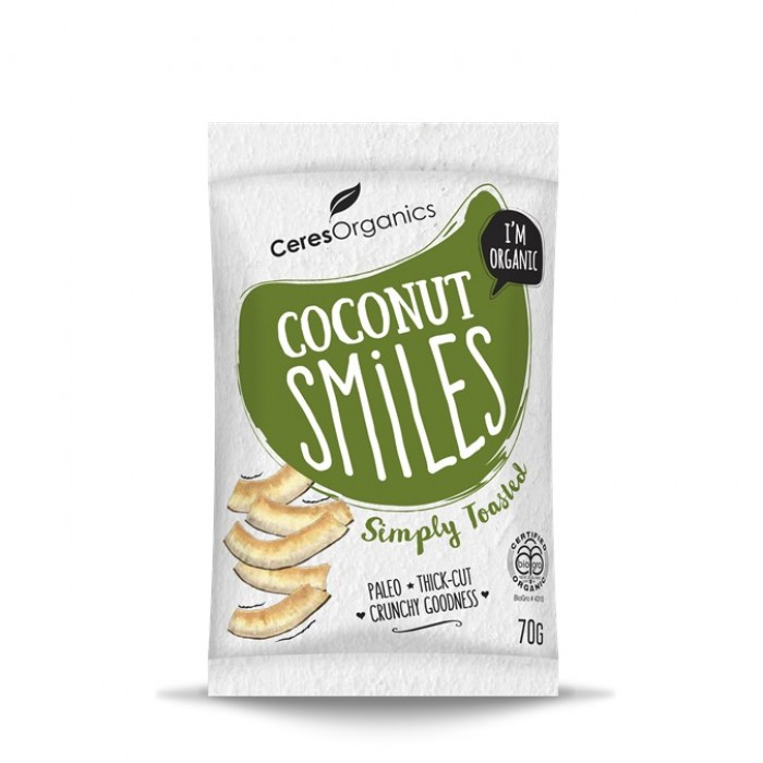 Organic Coconut Smiles, Simply Toasted 70g image