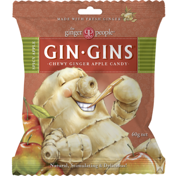 Gin Gins Apicy Apple Chewy Ginger Candy image