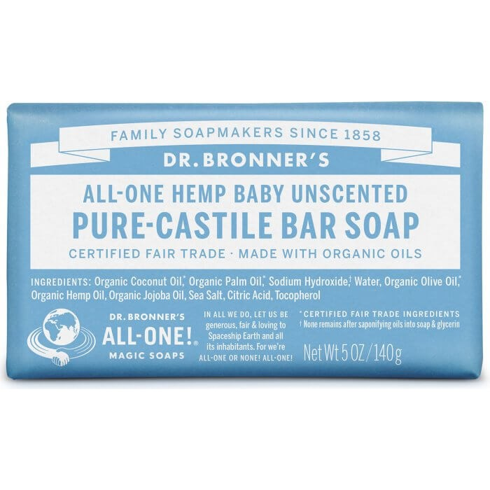 Pure Castile Bar Soap Baby Unscented image